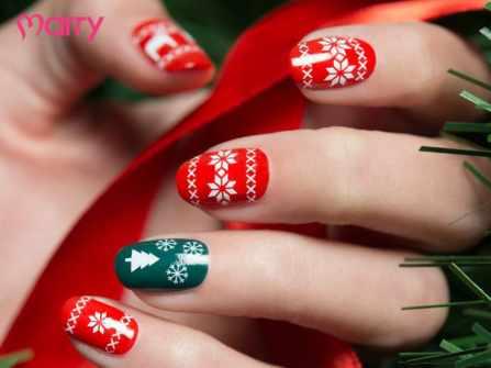 Cách vẽ 8 mẫu nail noel rực rỡ đón Giáng sinh
