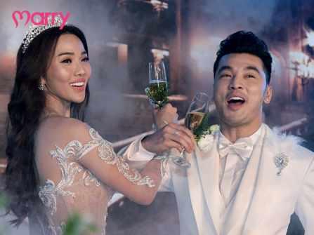 Toàn cảnh đám cưới Ưng Hoàng Phúc và Kim Cương