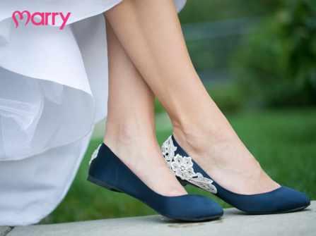 Gợi ý mẫu giày cưới bệt xinh lung linh cho cô dâu