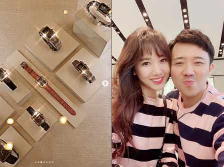 Loạt đồ hiệu Trấn Thành tặng Hari Won nhân dịp kỷ niệm 2 năm ngày cưới