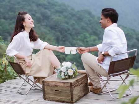 Album cưới đẹp như thiên đường của MC Lê Thùy Linh tại Tam Đảo