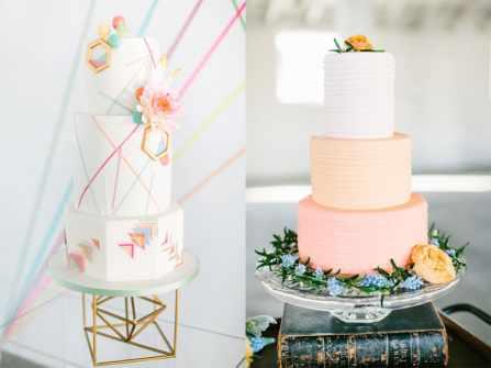 Đón trend 2019 với bánh kem cưới màu cam san hô ngọt ngào