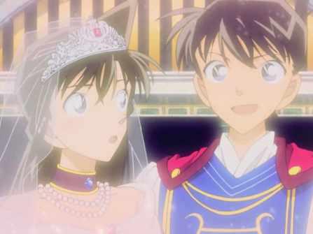 Cuối cùng fan cũng đợi được ngày Kudo Shinichi và Ran Mori nên đôi