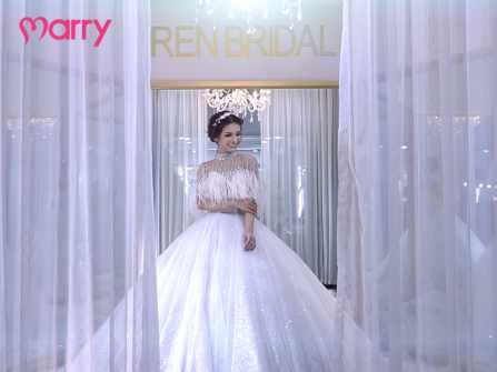 Hóa nữ thần với váy cưới lộng lẫy từ Ren Bridal Studio