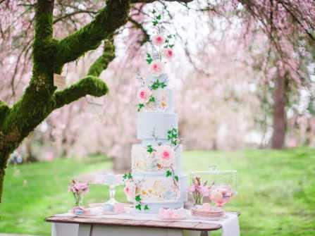 10 mẫu bánh cưới floral điểm thêm nét lãng mạn cho hôn lễ