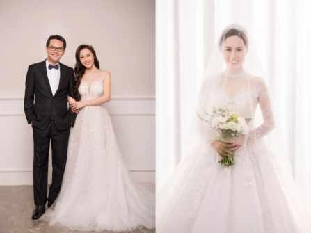 NSND Trung Hiếu chụp hình cưới với vợ 9x xinh như hot girl