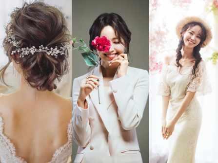"""5 kiểu tóc cô dâu Hàn Quốc """"đẹp không góc chết"""" cho nàng dâu Việt"""