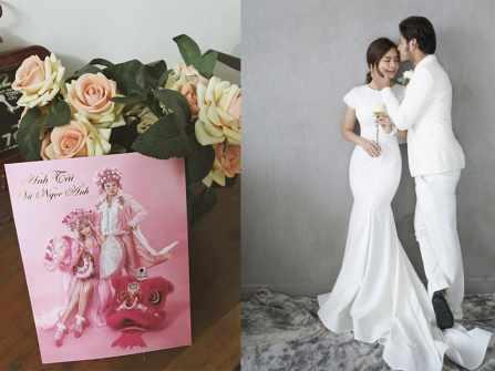 Thiệp cưới Tết lạ mắt của cặp diễn viên Anh Tài - Vũ Ngọc Ánh