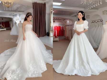 Những mẫu váy mới nổi bật mùa cưới 2019