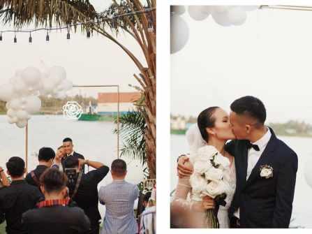 Tiệc cưới ngoài trời cực chất của hot vlogger Giang Ơi