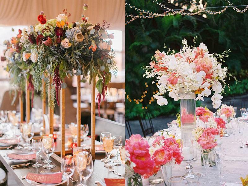 hoa hồng trang trí bàn tiệc 2