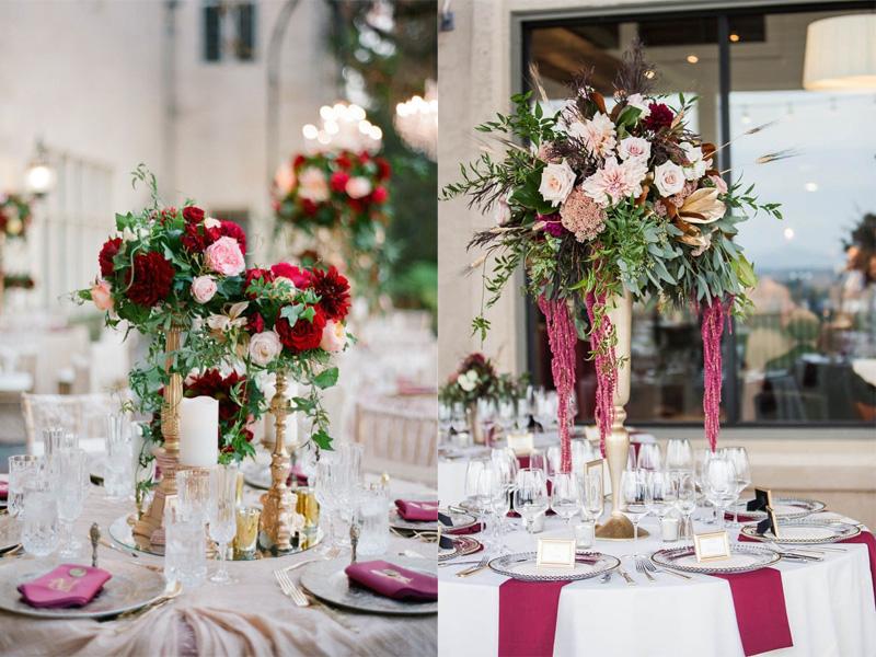 hoa hồng trang trí bàn tiệc 4