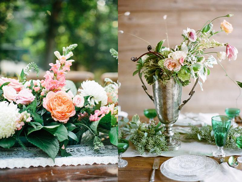 hoa hồng trang trí bàn tiệc 9