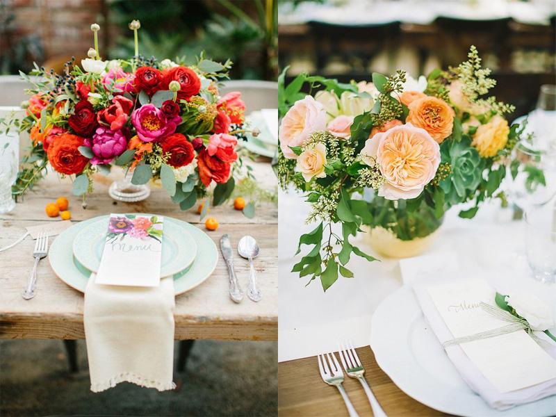 hoa hồng trang trí bàn tiệc 8