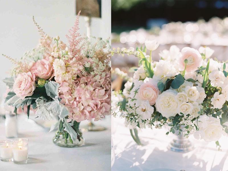hoa hồng trang trí bàn tiệc 7