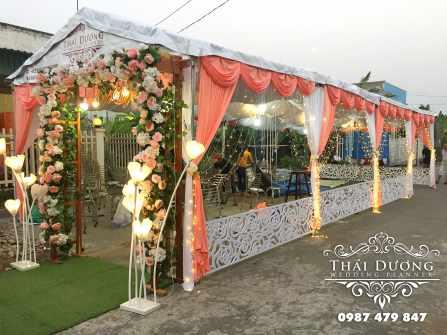 Cổng rạp cưới cao cấp theo tông màu