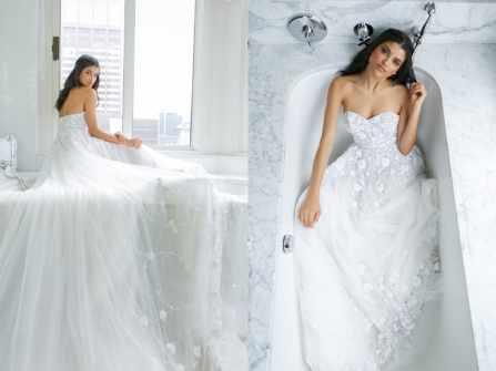 Hóa nàng dâu thanh tao cùng BST váy cưới Idan Cohen 2019