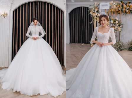 """Thùy Dương """"The Bachelor"""" lộng lẫy tựa nữ thần khi thử váy cưới"""