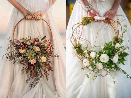 """Giỏ hoa cưới cầm tay: Xu hướng đang """"gây bão"""" trên toàn thế giới"""