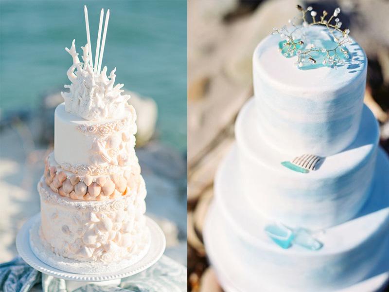 bánh cưới chủ đề đại dương 2