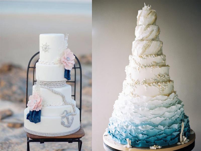 bánh cưới chủ đề đại dương 4