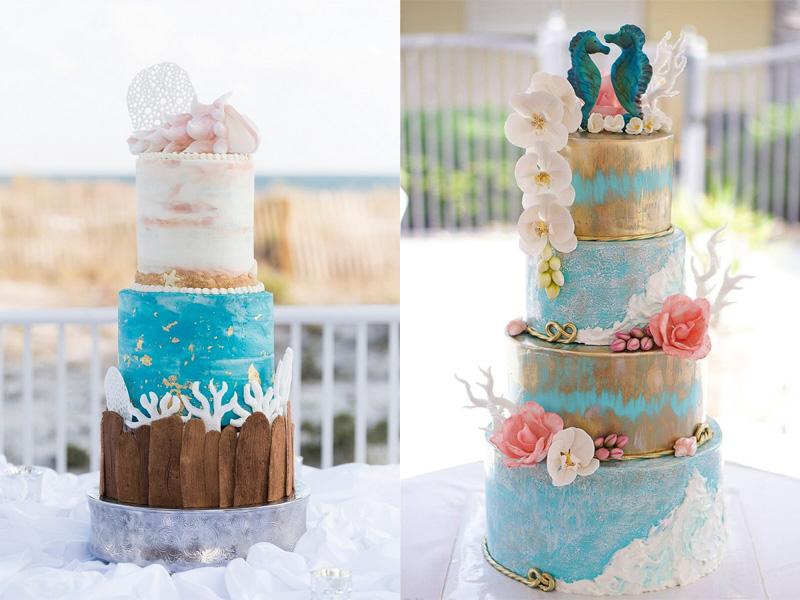 bánh cưới chủ đề đại dương 5