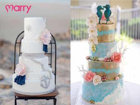 Ấn tượng với bánh cưới lấy cảm hứng từ đại dương xanh mát