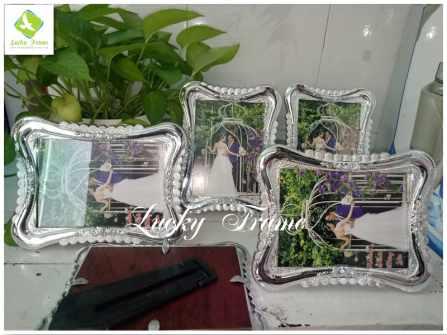 Bộ khung ảnh cưới màu bạc 13x18cm