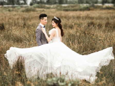 Gợi ý những tư thế đẹp khi chụp ảnh cưới ngoại cảnh