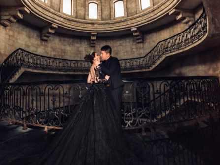 Những bộ váy cưới màu đen ma mị nhưng đẹp đến ngỡ ngàng