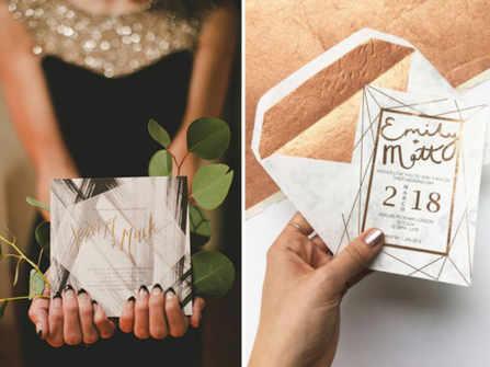 Băt trend thiệp cưới hình học dành cho mùa cưới 2020