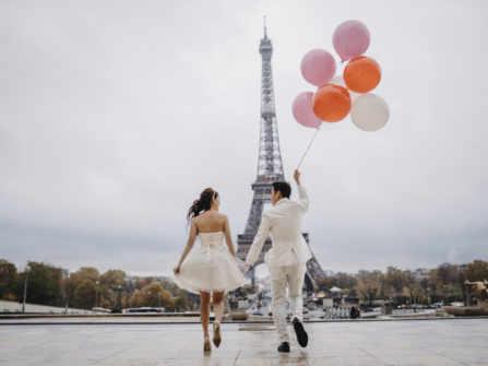 Ảnh cưới Paris mùa đông | Cecilia & Melvin | Février Photography