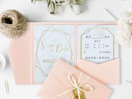 7 mẫu thiết kế thiệp mời đám cưới với họa tiết đá cẩm thạch