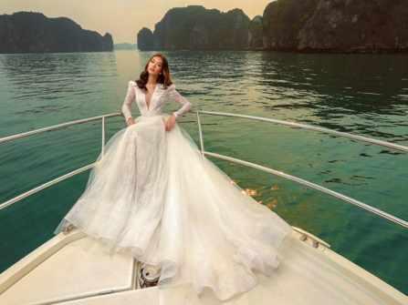 Mẫu thiết kế váy cưới mang phong cách hoàng gia cho cô dâu lãng mạn