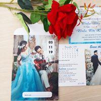 Thiệp cưới hoa - in hình giá 3k7