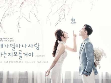Album chụp ảnh cưới phong cách Hàn Quốc