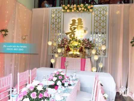 trang trí gia tiên - tông hồng dâu