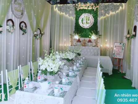 Trang trí tông xanh cốm - An Nhiên Wedding