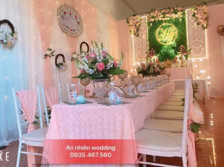 trang trí gia tiên tông hồng dâu - An Nhiên Wedding