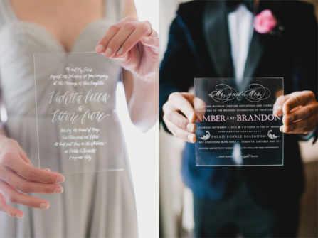 Thiệp cưới acrylic: sự lựa chọn vừa thanh lịch cho đám cưới của bạn