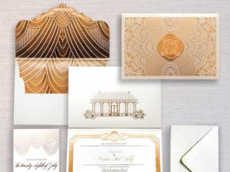 Màu vàng đồng cho cô dâu yêu thích phong cách quý tộc