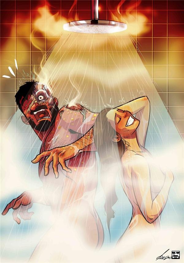 """Bộ tranh gia đình thể hiện sự """"khổ sở"""" của các ông chồng khi lấy phải vợ """"bá đạo"""""""