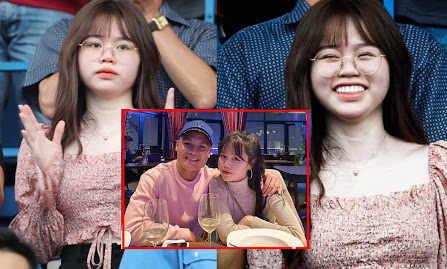 """Nụ cười hiếm hoi của Huỳnh Anh trên khán đài cùng status: """"Em sẽ là loại con gái như thế nào nếu bỏ đi vào lúc anh cần nhất?"""""""