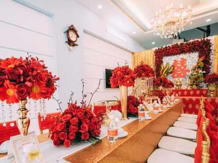 Lựa chọn mẫu bàn thờ gia tiên đám cưới cho ngày vui thêm trọn vẹn