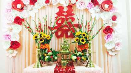 Lựa chọn mẫu bàn thờ gia tiên đám cưới cho ngày vui thêm trọn vẹn Marry