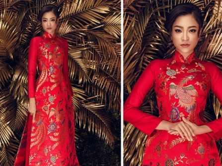 4 lý do cô dâu nên lựa chọn áo dài cưới gấm trong ngày trọng đại