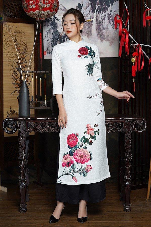 áo dài cưới gấm13 Marry