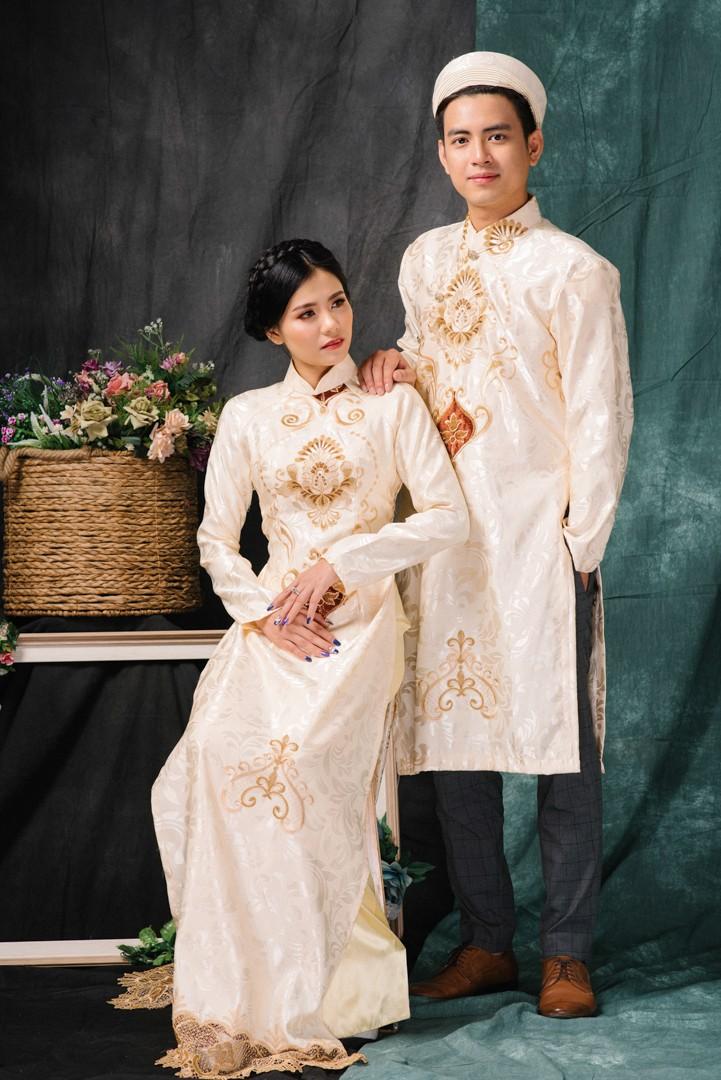 4 lý do cô dâu nên lựa chọn áo dài cưới gấm trong ngày trọng đại Marry