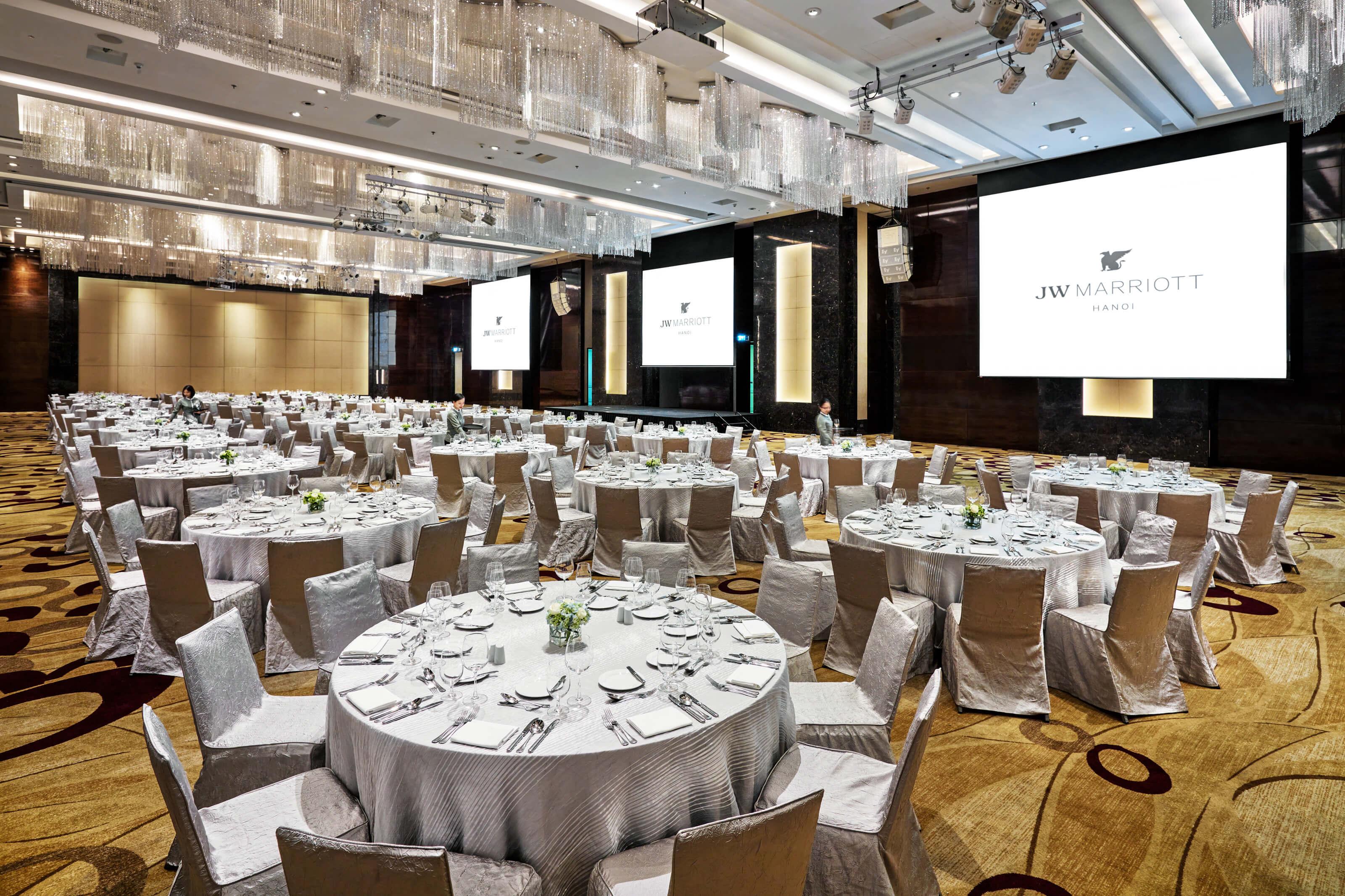 Grand Ballroom của JW Marriot Hanoi sức chứa lên đến 750 khách