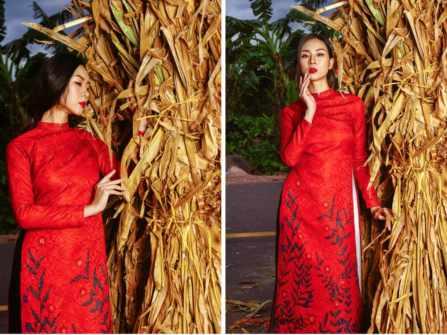 Áo dài cưới gấm đỏ - nét đẹp truyền thống sang trọng cho cô dâu